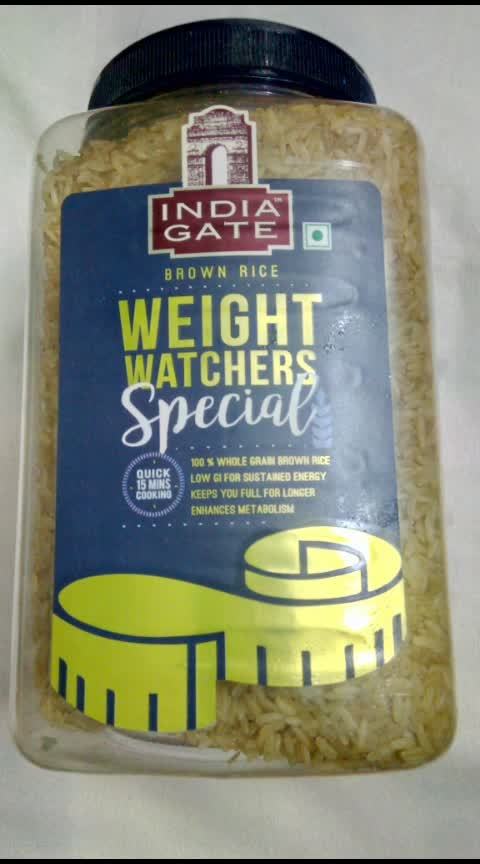 India Gate Brown Rice Review  . Once you eat this you are completely in love with this brown rice. This rice is not a white rice. It is 100% whole grain brown rice.   It is low GI for sustained energy. It keeps your tummy full for longer time. It is also gluten free and enhances the metabolism.  The packing is also good in design it comes with a container of 1 kg and the method of cooking is that you have to pour in the water before cooking.   Its a low fat, cholesterol free and rich in fibre. The price of this product is ₹135 per kg.   You must have it if once you have it you will forget about other rice.   The flavour of this rice is also good in taste you can try to make pulao with it. Its is looking like a classy rice #brownrice #indiagatebrownrice #weightloss #fitness #fitnessgoals #dailypost #followmeonroposo #hungry #hungrytv #hungryalways #hungryme