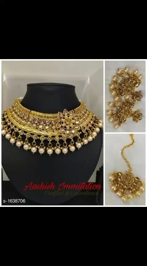 #jwellerycollection  #necklaceset  #neckpiece  #jwellarylove  Sizzling Antique Fancy Kundan Necklace Set  Material: Alloy Size: Free Size Description: It Has 1 Piece Of Necklace With 1 Pair Of Earring & 1 Piece Of Maang Tikka Work: Beads & Kundan Work Dispatch: 2 – 3 Days For further more collection subscribe to my youtube channel https://www.youtube.com/channel/UCWn9eoJEahEZMIrcXaWhNrw