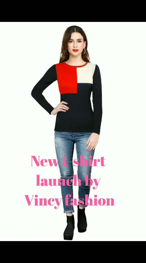 Trendy T-Shirt   Export quality Available Size : S, M, L, XL Fabric- Knitting Neck- Round Length- 23.5 inch Sleeves- Full Sleeves Wash care- Hand & Machine wash