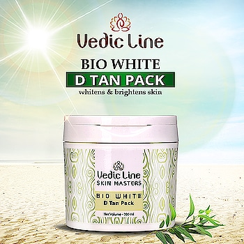 Still cribbing about Tanning?? Does the sunny weather 🌞make you feel irritable? Presenting Bio White D tan pack Tailor-made for #whitening and #brightening of skin & complete protection from Suntan.  Buy Now: http://bit.ly/DTanPack  💟Benefits💟 👉 Instant brightening and lightening. 🥀 👉 Hydrates and nourishes skin. 🥀 👉 Healing and calmness effect. 🥀 👉 Anti-aging effect.  #DTanPack #Ayurvedicskincare #NaturalSkincare #Vedicline #MustHaves #EssentialAyurveda #NaturalIngredients #NaturalFacePack #Skintightningpack #Clove #Tulsi #Eucalyptus #VediclineIndia #BiowhiteDTanPack #GlowingSKin #SkincareRegime #DTan #AyurvedicProducts #Cosmetic #Herbal #NaturalCare #SkinCare
