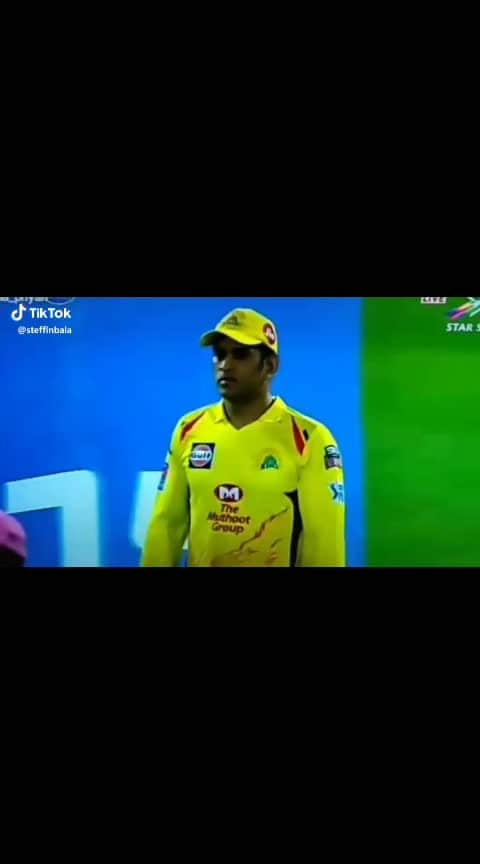 Thala Dhoni's angry moment 😍👏👏👏🤘🤘🤘#thaladhoni #sports_tv