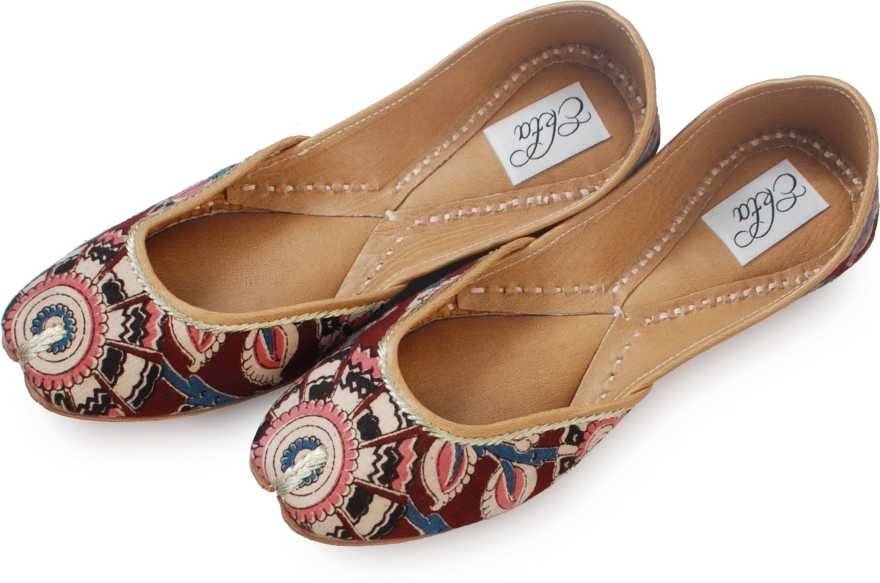 Featuring a pure cotton fabric upper that�s emblazoned with an ikat pattern, these handcrafted juttis with a cushioned inner sole celebrate desi elegance. 100% cotton fabric upper, genuine leather sole and insole This is a genuine handwoven piece, unevenness in the selvedge and weave could be expected. Colours may fade or bleed due to the traditional dyeing and printing process employed The yarn in ikat technique is tied and dyed in calculated proportions before weaving for a characteristic pattern The provided juti is designed by making use of finest quality leather and handloom material under the direction of our skilled professionals. these handmade juttis feature traditional embroidery on the body. This Ethnic Punjabi Jutti and Mojaris are Very Popular Because You Can Wear Theses Juttis And Mojaris In Every Dress Formal As Well Casual, western as well as traditional. This Is Totally Handmade With High Quality Leather. These juttis normally go with ethnic wear like, Patiala Suit, Kurta Pajama's and Punjabi dresses, apart from these juties can also be worn with denims. Most of the girls these days go with this footwear collection as it is not only completes the attire but makes them feel stylish as well.  buy now- https://bit.ly/2v0Rgzt