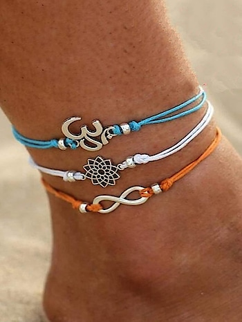 3pcs/Set Lotus Infinite Anklet  website Link-http://bit.ly/2Uc8lkp . . . . #anklet #anklets #charm #lotus #infiniteanklet #infinite #multicoloranklet #beade #beachwear #love #partywear #indiandesigner #bracelet #jewellery #stylish #accessories #jewelry #india #mumbai #women #girls #casual #jewelrydesign #jewelrylovers #fashionjewellery #womenjewellery #onlineshopping #indianfashion #westernjewellery