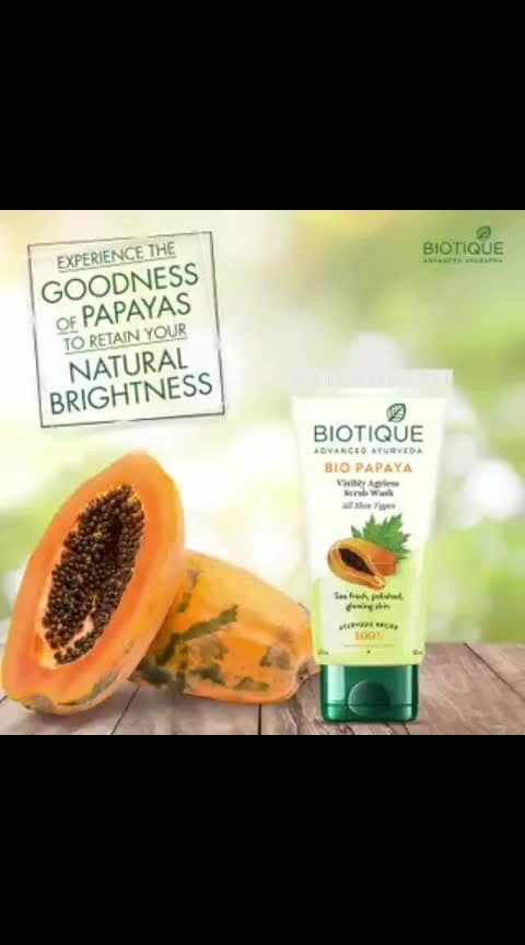 Did you know that dead surface cells are the reason of your dull looking skin? Scrub them off with Bio Papaya scrub wash. Unclog the pore openings and revive your skin's natural brightness. #Biotique #UnclogThePores #CleanSkin #Natural #PureIngredients