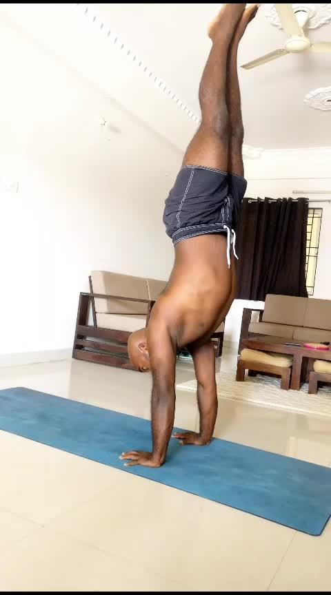 gaze shifting attempts in scorpion shape . . . . . #SundayFunday #sundayyoga #yoga #yoga4roposo #yogaeverydamnday #yogastrong