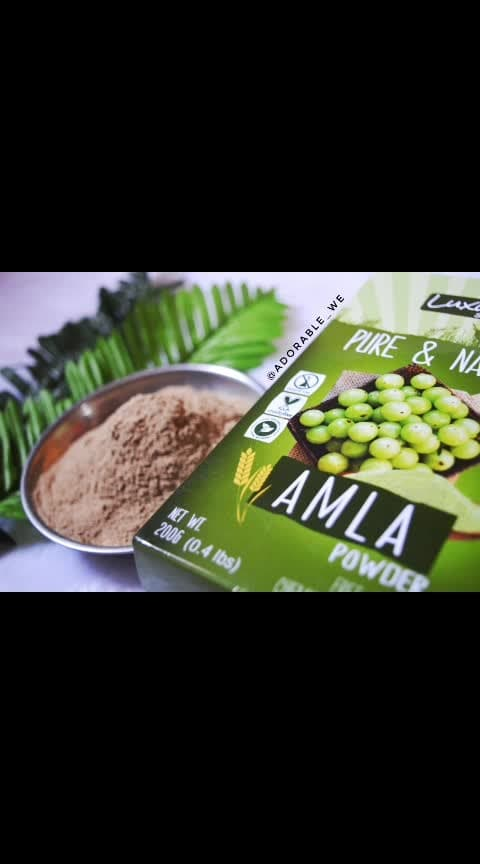 Luxura Sciences Pure Amla Powder For Hair Growth 👩  About the product - @luxurasciences is a complete natural brand, providing pure and natutal products to their customers. This Pure Amla Powder is perfect for boasting your immunity and also has wonderful benifits for hair, skin and health.  Weight, Price and Availabilty- Worth Rs. 249 (after discount) comes in 200 grams and is available on amazon.in  Benifits of Amla- 1. Helps strenghting hair. 2. Maintains natural colour of hair. 3. Reduces dandruff. 4. Maintains skin health. 5. Reduces acne. 6. Maintains natural complexion  How to use - For natural facial:  Amla powder with raw honey moisturizes and nourishes skin  Mix with papaya and honey to maintain the glowing skin  Try a facial with honey, yoghurt and amla powder  For shiny hair:  Make a hair mask with 2 teaspoons of amla powder, 1 teaspoon of honey and 2 teaspoons of yogurt in warm water – let it sit for 30 minutes before you wash it off with warm water  Mix Amla powder with coconut oil for giving yourself a hair massage.  Mix it with shikakai or egg for shiny and lustrous hair.  #amla #reducehairfall #strenghtenhair #healthyhair #luxurascience #adorablewe