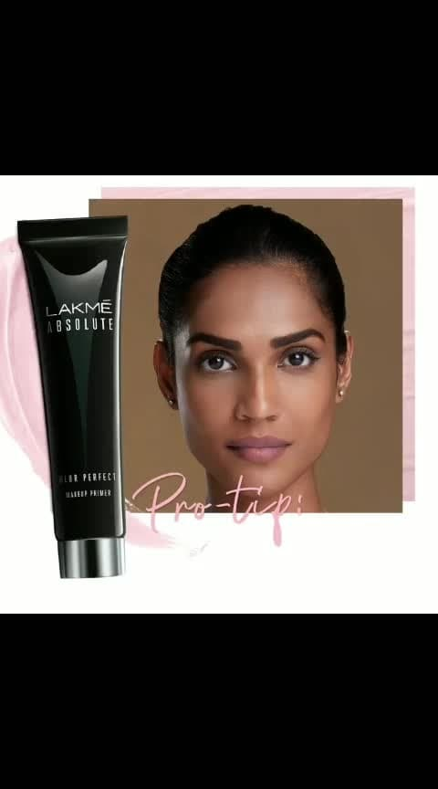 Forget the odds & go for an even-toned complexion! #Lakmé #Absolute #Blur #Perfect #Primer is your go-to buddy for a flawless look. It's waterproof, lightweight and makes your makeup last longer. Perfect isn't it? 😉 Price: Rs. 675/-