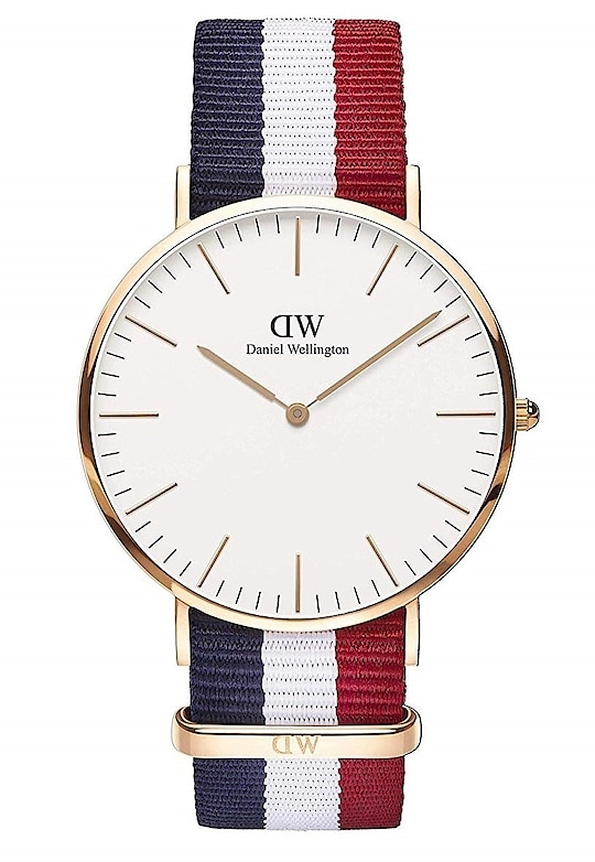 DW Men's Classic Analog White Dial Watch ₹299 FREE SHIPPING Features Color : Multi Colour Occasion : Party Wear Ideal For : Men Strap Material : Synthetic Strap Color : Multicolor Dial Shape : Round Facility : NA Dial Color : White