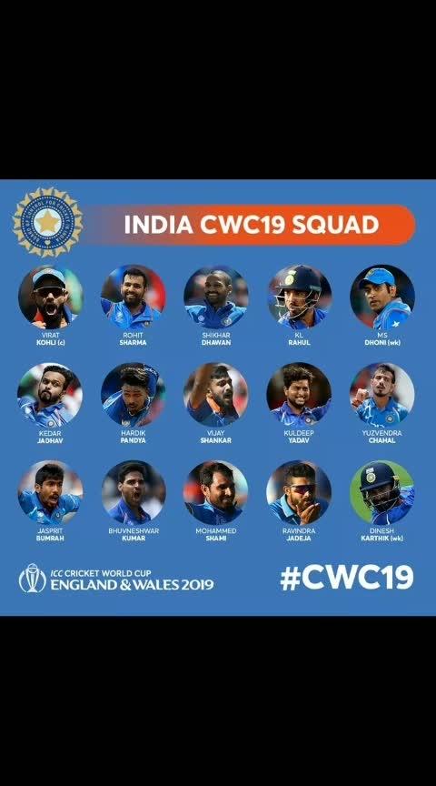 India and Australia.  world cup team squad. ... congratulations KL RAHUL #klrahul