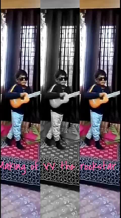 making of VV the rock star  #musicallys  #roposoers  #next-generation-kids  #roposo-kids  #singers