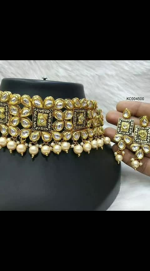 #Kundan Choker Pearl Necklaces with Earrings  *Free  shipping & Easy Returns*...cod available  *Delivery*: Within 6-8 business days   Price : 933/-  https://myshopprime.com/collections/29692075