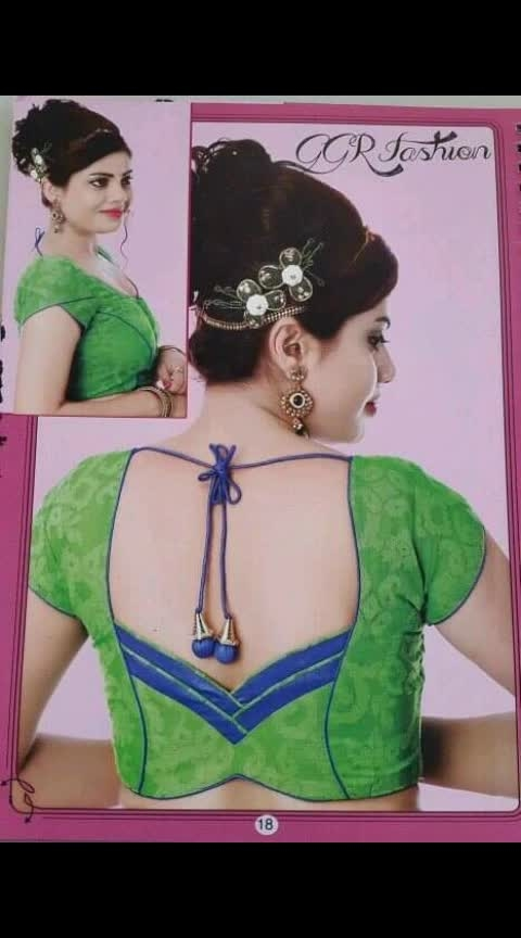 wow... !! blouse style new design..   #blousedesign
