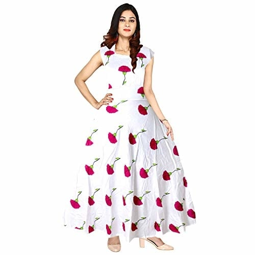 Silver Organisation Reyon #Dresses for Women #Westernwear @ Rs.537. Buy Now at http://bit.ly/2XgLndC
