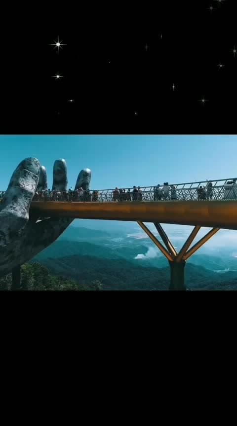 #Golden bridge!!😘😘😘😍#vietnam #beautifulbeing #wow