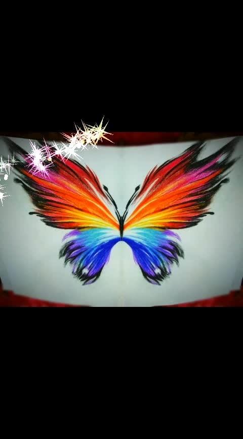 😊😊 ... #my-art #roposoart #roposocolours  #butterflywings #rendered #roposo-rendering #colour #colourful #multi-colour #butterfly #drawingsession #drawingbyme #pencilcolordrawing #colouring #followme #like-it