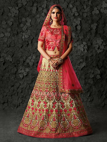 #LatestBridalLehenga available at Mirraw, in affordable prices with fastest shipping world wide. Shop now from : https://www.mirraw.com/lehengas/bridal-lehenga  #BridalLehenga, #WeddingLehenga, #LehengaForWeddings