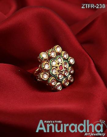 Adorable gold finish traditional finger ring. Get more designs on this link: https://bit.ly/2GO7lzM #traditionalfingerring  #fingerring  #onlinefingerring  #newfingerring  #kalank  #avengersendgame  #gameofthrones