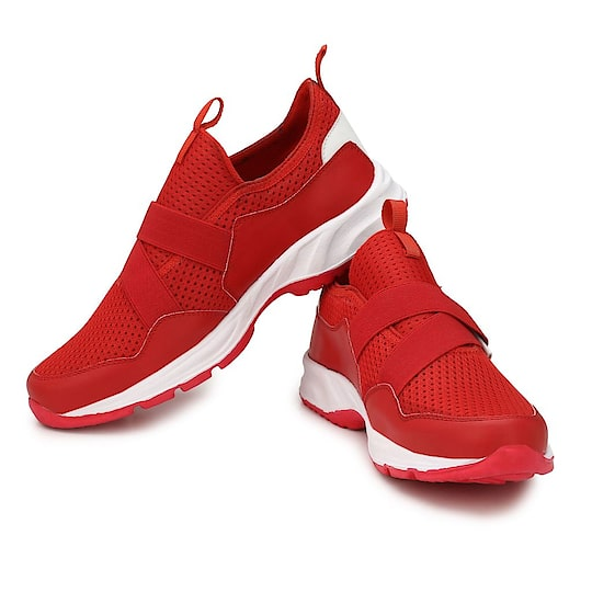 Red Color Mesh Sports and casual Shoes
