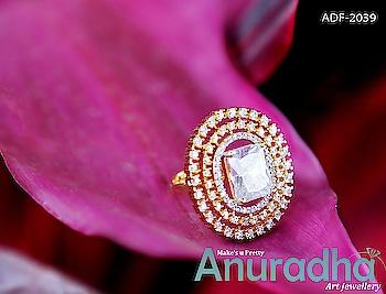 Fancy Gold Finish Diamond Finger Ring. See more designs on this link: https://bit.ly/2Ioe1Gn #fingerring  #newfingerring  #diamondfingerring  #onlinefingerring  #avengersendgame  #gameofthrones  #kalank