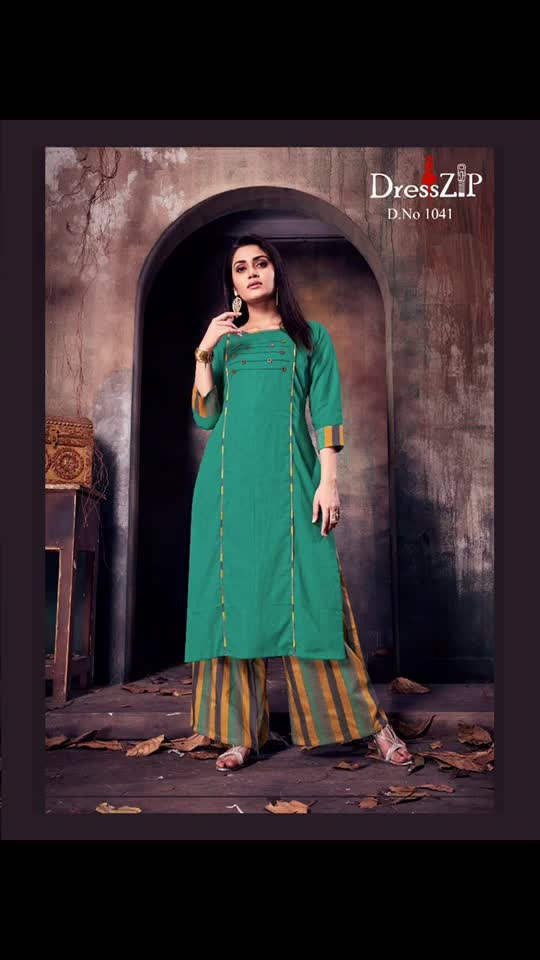 🎊🎉🎊🎉🎊🎉🎊🎉  *Greetings from Dresszip Collection Pvt Ltd.*  Dear Sir / Ma'am,  Here We are Launching Our New *Kurti & Palazzo* Catalogue  ✨✨ *HEENA* ✨✨  *8 Design Catalogue*    *Fabric Details*  🌹 *Top* - Stitched Rubi Cotton  🌹 *Palazzo* - Stitched Top dyed cotton  💃🏻 Size :- L (40)                   XL (42)                   XXL (44)  💰 *Rate Rs.* *1200+$*       *original pis*..🌷h