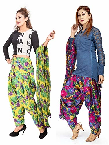 Rama Set of 2 Printed Cotton #Patiala with #Dupatta Set @ Rs.1099. Buy Now at http://bit.ly/2V4SuZj
