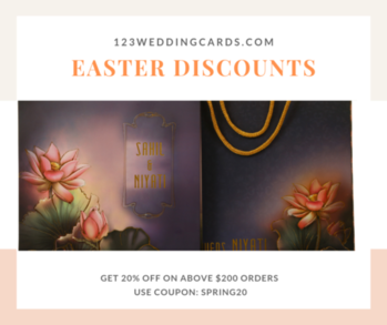Celebrate and #save with #Easter #deals and #offers.  Pay 20% less for your wedding cards using money-saving #discounts from #123WeddingCards. Apply promo code: SPRING20 on $200 and above orders. Order now : https://www.123weddingcards.com/all-wedding-invitations  #eastersale #happyeastersale #easterdiscounts #bunny #sale #discount #deal #easterdeals #eggs #eastereggs #springdeals #eastersavings