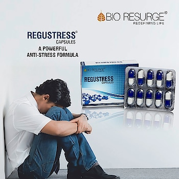 Proven Solution for Depression, Stress and  Anxiety.  Regustress is a combination of Ayurvedic herbs & extracts which helps to relieve the symptoms of stress.  How to use : 1-2 Caps twice a day.  Buy Now: http://bioresurge.in   Amazon, Snapdeal, Flipkart, 1mg, Nykaa, Guardian pharmacy, Paytm, eBay, Healthmug, LimeRoad, Shopclues.   #health #healthy #Natural_Healthy #bioresurge #AdvancedAyurveda #Stress #Depression #Anxiety