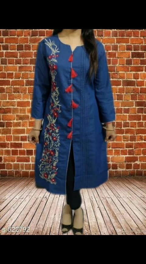 *Trendyfrog Femme Denim Kurtis Vol 19*  Fabric: Denim   Sleeves: 3/4 Sleeves Are Included  Size: M - 38 in, L - 40 in, XL - 42 in  Length: Up To 44 in  Type: Stitched  Description: It Has 1 Piece Of Kurti  Work:  Embroidery / Solid  Dispatch: 2 - 3 Days  Designs: 4  Easy Returns Available In Case Of Any Issue 745 Only #denimkurti #denimkurtis #embroidered #solid #shopwithus #buyitnow #thebazaar #cashondelivery #followusonroposo