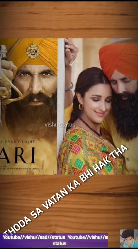 Tere mitti mai mil jawa female version  Full screen status  #Kesari_movie_ Akshay_Kumar_and_Parineeti_Chopra #Vishu_sad_status_On_Youtube_Aap