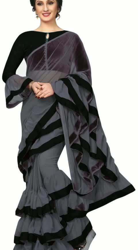 Mahika Contemporary Georgette Ruffle Sarees Vol 1  Fabric: Saree - Georgette, Blouse - Banglori Silk Size: Saree Length - 5.5 Mtr, Blouse Length - 0.8 Mtr Pattern: Ruffle  Dispatch: 2– 3 Days