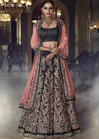 A delectable #navyblue and #pink #partywear #lehenga will elevate your festive style to a new level. Grab this @https://www.manndola.com/alluring-navy-blue-and-pink-party-…  Alluring Navy Blue and Pink Lehenga Choli, is beautifully crafted with Embroidery. This Wedding and Party Wear Lehenga Choli comes with Textured Blouse, Satin Lehenga and Net Dupatta.This beautiful attire is apt for the wedding functions . The lovely combination will let you grab the attention and lots of compliments.   Grab Flat 50% OFF. And also get free shipping on all orders above $299 !!  #newarrivals #newlaunch #partywear #lehengacholi #net #shoponlinenow #embroidery #eveningwear #reception #wedding #texuredblouse #satinlehenga #style #photography #instamood #instaupload #fashion #indianfashion #ethnic #usa #india #canada #australia #dubai #uae #mauritius #london #uk #netherlands #paris #shoponline