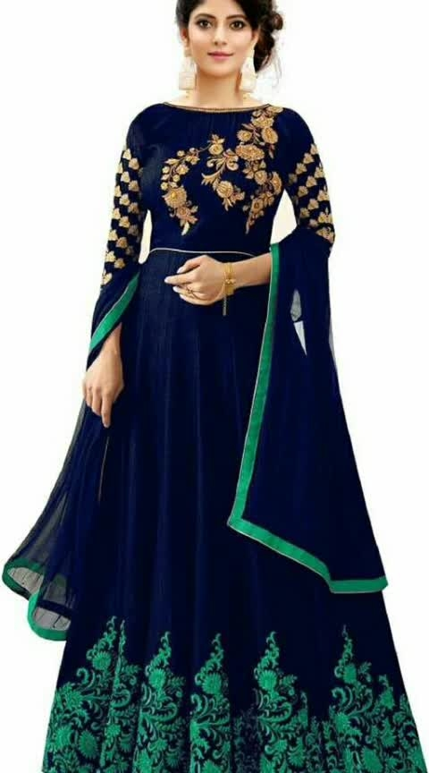Voguish Phantom Silk Gown Fabric: Gown - Phantom Slik, Dupatta - Chiffon Size: Gown - Up 56 in,  Sleeves: Sleeves Are Included Flair - 2.50 Mtr Length: Gown Up To 56 in Type: Semi-Stitched Description: It Has 1 Piece Of Gown, & 1 Piece Of Dupatta Work: Embroidery #silkgowns #silkgown #semi-stitched #embroideredwork #embroidered #shopwithus #buyitnow #thebazaar #cashondelivery #followusonroposo