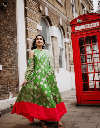 Indian Ethnic ft. House of Masaba Outfit   #indian #indianbridal #bridalfashion #bridalwear #bridallook #bridalideas #masabagupta #houseofmasaba #masabaguptaoutfit #masabaguptabridal #masabaguptacollection #roposofashioblogger #roposostyle #ropofashion #styleadvice #indianfashionblogger #delhifashionblogger #indianfashion #indianblogger #greensuit #offshoulderdress #offshouldersuit #greensuit #greenanarkali #fulllengthsuit #accessories #goldenearrings #goldearrings #masaba