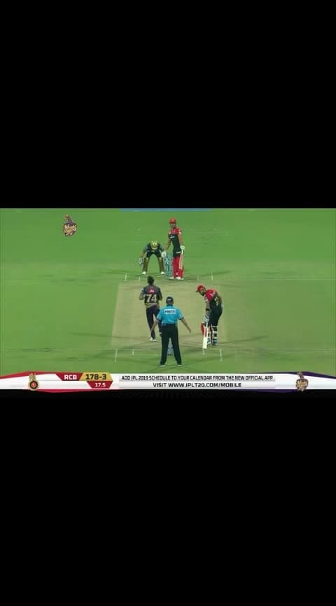 funny movement by #viratkohli in rcb vs kkr match