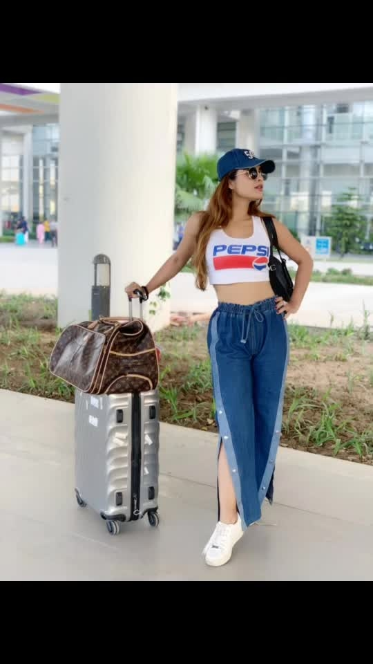 Touchdown CHANDIGARH ♥️😍😍😍 : #travelinstyle #happyface #happygirl #airportlook #ootd #airportoutfit #airportstyle #airportfashion #traveller #casualstyle #casualoutfit #chandigarh #seeyousoon #byebyemumbai #goair #gobusiness #travelling #travelholic #travelblogger #travelphotography #nehamalik #model #actor #blogger #instagram #instagood #instafollow