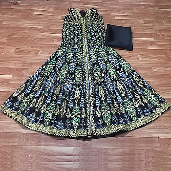 Deal Of The Day...😍 Grab This Amazing Beautified Heavy Embroidered Indo Western Gown Only For 1900/- Fabric👉 Silk With Heavy Embroidery Work For Order/Price What-app us (+91) 8097909000 * * * * #salwar #salwarsuits #dress #dresses #longsuits #suitsonline #embroidered #fashion #style #gown #gowns #partywear #partyweargown #anarkalisuits #indowestern #indowesterngowns