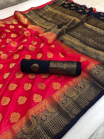 ******Stylish Silk******* Silk Saree with splendid zari Pallu and matching border with pallu matching blouse piece Contact or WA : 98254 42027 #thebazaar #womens-fashion #traditionalindianwear #weddingsarees #silk #nari-in-sari #onlinesarees