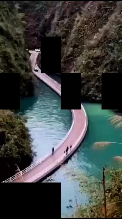 🌊🌊 #bridge #china #scenery #mountains #travel-diaries #wow #roposo-wow