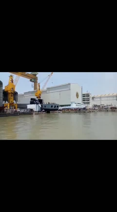 , Today India launched his stealth destroyer INS Imphal at Mazagon Dock Shipyard Ltd, Mumbai. One more leap in India's self reliance on Defence production. Jai Hind.