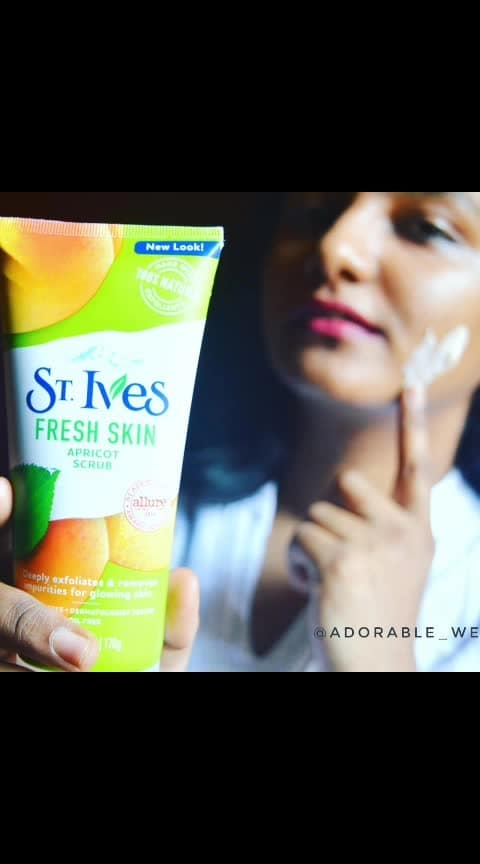Have you tried the @stivesindia Apricot Face scrub yet?  #adorablewe #apricotfacescrub #stivesreview #newlook #reviewofapricotfacescrub #reviewofstives #st.ives #stivesindia #beautyblogger #youtubeindia #mumbaiblogger #skincare #beauty #makeup #skincareblogger #stivesscrub #stivesindia