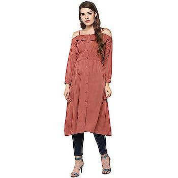 Women A-line Brown Dress  https://bit.ly/2Xz00Jv