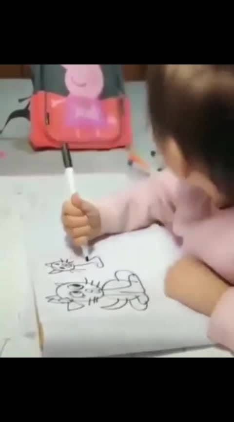 Cute baby art creativity 😊😘 #roposoart #arted #cartoon-art #roposoness #roposomoments #roposolovers