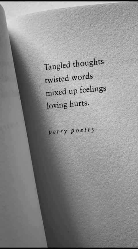 Tangled.. thought....#perrypoetry