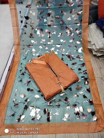 Classy Chanderi Cotton Dress Material 💥PRICE: 899/- Top - Chanderi Cotton Inner - Santoon Bottom - Santoon Dupatta - Organza Print To Order WhatsApp us (+91) 8097909000 * * * * #salwar #salwarsuits #dress #dresses #longsuits #dressmaterial #banarasisupatta #suitswithdupatta #suitsonline #embroidered #onlinefloralsuit #floral #printedsuits #printed #straightsuits #dupatta #designerdupattaonline