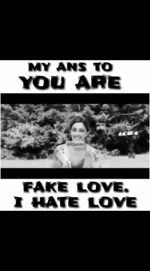 #fakelove #hatelove #dofollowme