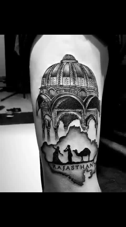 Rajasthan tatoo.... ✌😘😘😘 #tattoo-lover #rajasthan