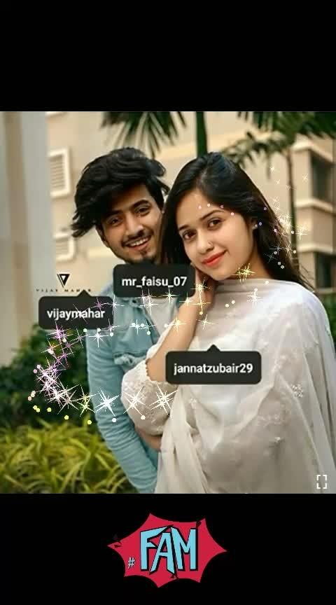 #mrfaisu #jannatzubair29 my favourite tiktok star..💗💗free time post on request @deepakkr ↘↘↘↘💝💝💝💝