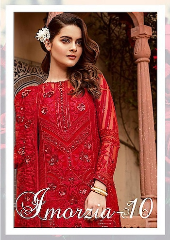 DEEPSY IMORZIA VOL 10 GEORGETTE EID SPECIAL PAKISTANI DRESS MATERIALS  #wonderful designer catalog #latest designer piece #wonderful georgete designer suits collection  Catalog IMORZIA VOL 10 Pcs 7 AVG. Price 1199 Full Price 8393 Full Price With Gst 8812.65 Size Unstitched, Fabric GEORGETTE  For more collections visit our website :- http://hellostyle.in/  Call or whatsapp :- +91- 7434983433