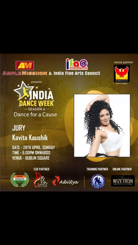 I proudly present our super talented and dynamic Jury for.... ' India dance week dance for a cause' season 6.... presented by Ample Missiion n India Fine Arts council...  They all hv mesmerised us on screen not only with their art but also with their vivacious personality... plus they hv been a role model in their respective fields... pls meet..  Shweta Shetty... Manish Goel... Kavita Kaushik.. Sai Deodhar Anand...  Aishwarya sakhuja...  Sambhavana seth and   Sushant Divgikr   I want to thank... our presenter Dr Aneel Murarka founder Ample Missiion... India Fine Arts council president Haresh Mehta...  Vice President Rajesh Srivastav..   for associating with us  Mayank Lalpuria.. Shobhaa Arya.. Ankita Dolawaat.. Vipin Kushwaha.. Jameel Shah.. Nazim Shaikh..  Abhishek Dubey.. Parul Chawla Thk u for always being there for me..   Dr Uma Rele.. Villoo Bharucha... Brian Fernandes.. Shreyas Desai.. Shalini Bhargava.. Sumit Goher.. 🙏💐🕺🏻..   Don't miss this dance extravaganza on 27-28th April only at Phoenix market city Kurla, Mumbai... 6 pm onwards...  #allindiadancecompetition #dancecompetition #indiafineartscouncil #sandipsoparrkar #phoenixmarketcity @shweta_s_shetty @manishgoel @sambhavnasethofficial @ash4sak @sai_deodhar_official @uma.rele @deshreyas @ankita.dolawat @btdvipin @mayanklalpuria @marketcitykurla @shalini_bhargava @sumit_goher @brians_academy_of_dance #dance #jury #indianarmy #danceforacause #amplemissiion @amplemissiion #aneelmurarka @aneelmurarka @imdubeyabhishek @parulchawla9 @nazimwizetron @shobhaa.9966 #bappilahiri