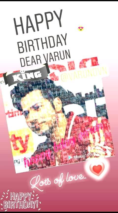 #hbd_varundhawan #lotsoflove  #happybirthdayvarundhawan #myfav #love_you 😘😘😘💗💗💗